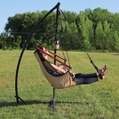 Hanging Chair Stand Only Antique Wicker Rocking Styles Shop Sunnydaze Durable X And Hammock Set Or You Choose Free Shipping Today Overstock Com 12031876