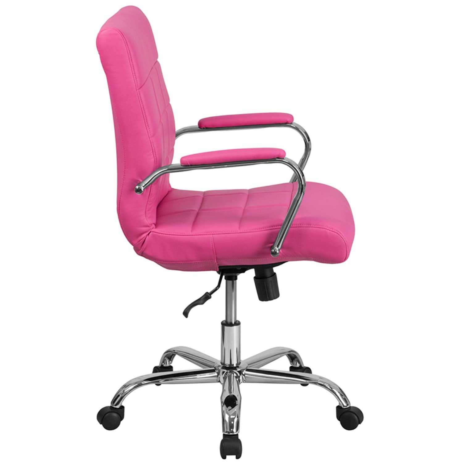 pink swivel chair office ratings shop aberdeen mid back vinyl executive w chrome base arms free shipping today overstock com 16627581