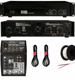 shop acoustic audio gx 350 speakers amp mixer and wire dj set 2 way dj set background dj wiring set [ 1000 x 1000 Pixel ]