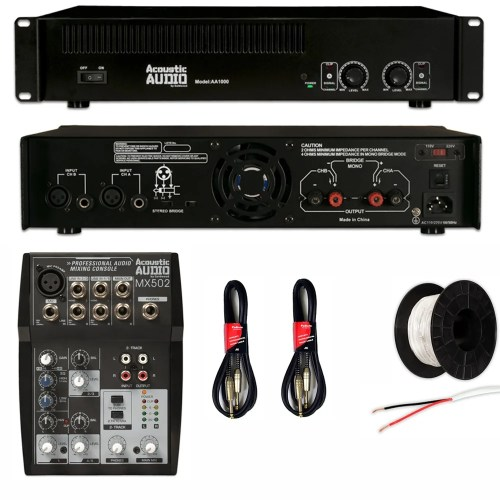small resolution of shop acoustic audio gx 350 speakers amp mixer and wire dj set 2 way dj set background dj wiring set