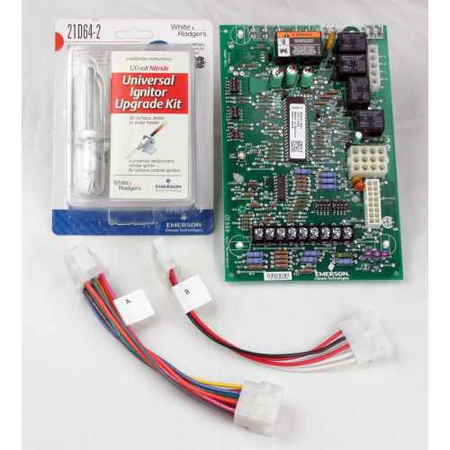 small resolution of shop white rodgers 21v51u 843 universal two stage hsi integrated variable speed ecm circulator furnace control kit n a free shipping today overstock