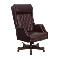 Leather Executive Office Chair Leopard Print Bean Bag Shop Offex High Back Traditional Tufted Burgundy Of Kc C696tg Gg Free Shipping Today Overstock Com 16690402
