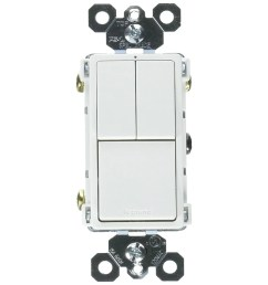 shop legrand rcd113wcc6 grounding 2 single pole 1 single 3 way switch white 15a free shipping on orders over 45 overstock 25091722 [ 1200 x 1200 Pixel ]