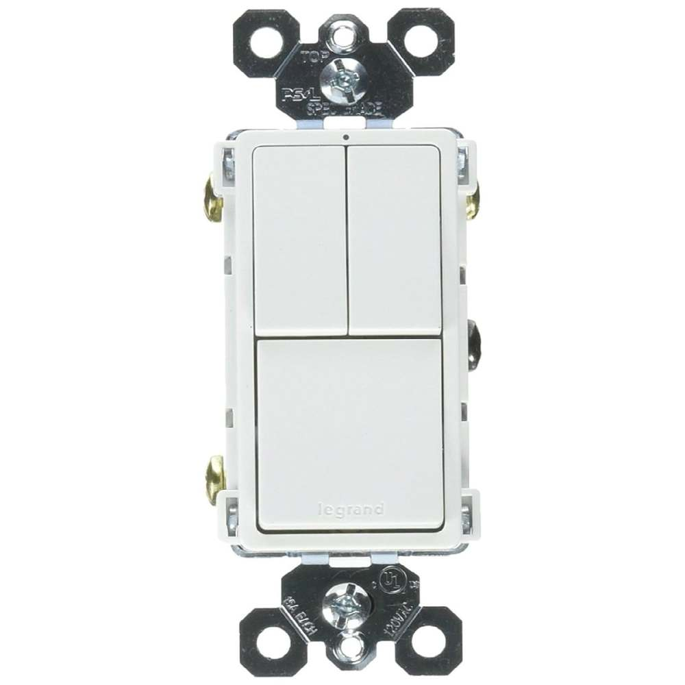 medium resolution of shop legrand rcd113wcc6 grounding 2 single pole 1 single 3 way switch white 15a free shipping on orders over 45 overstock 25091722