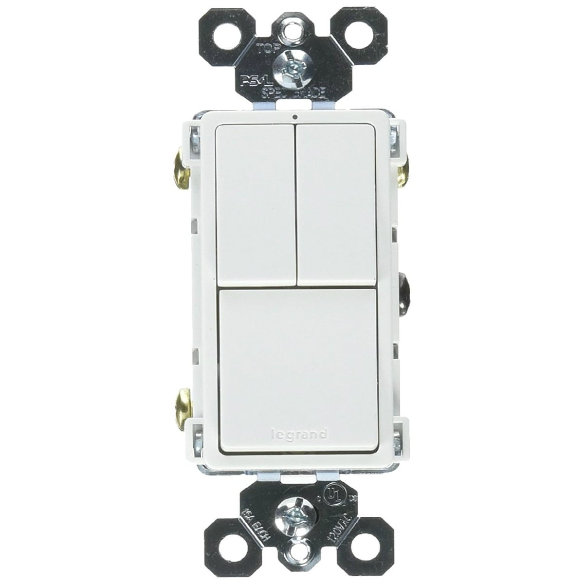 hight resolution of shop legrand rcd113wcc6 grounding 2 single pole 1 single 3 way switch white 15a free shipping on orders over 45 overstock 25091722