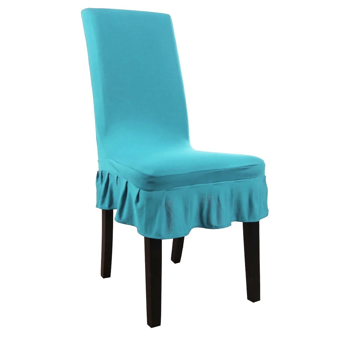 aqua dining room chair covers swimways premium canopy shop stretch spandex short free shipping on orders over 45 overstock com 27281899
