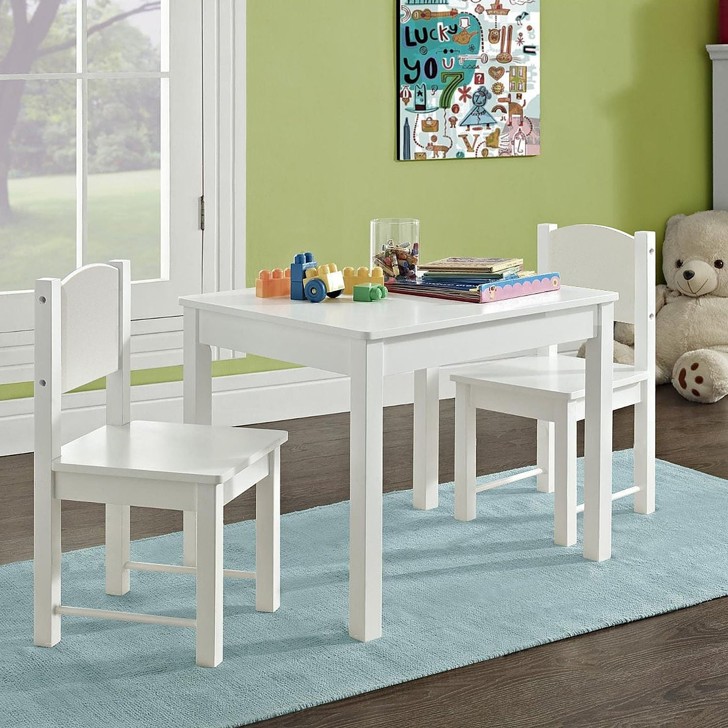 Kid Table And Chair Kid S Table And 2 Chairs Set Solid Hard Wood Sturdy Child Table And Chairs White