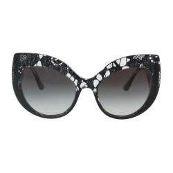 dbb61fb85bd0 Shop Dolce   Gabbana Dg4321 31528G Black Gradient Cat Eye Sunglasses