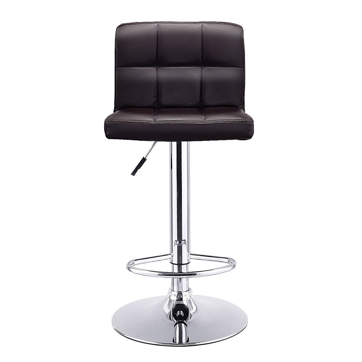 leather pub chair hanging chairs australia shop costway 1 pc bar stool swivel adjustable pu barstools bistro brown free shipping today overstock com 16065838