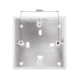 shop surface mount wiring box electric wire outlet 86 type pvc white 86 type 40mm depth 1pcs free shipping on orders over 45 overstock 27581409 [ 1100 x 1100 Pixel ]