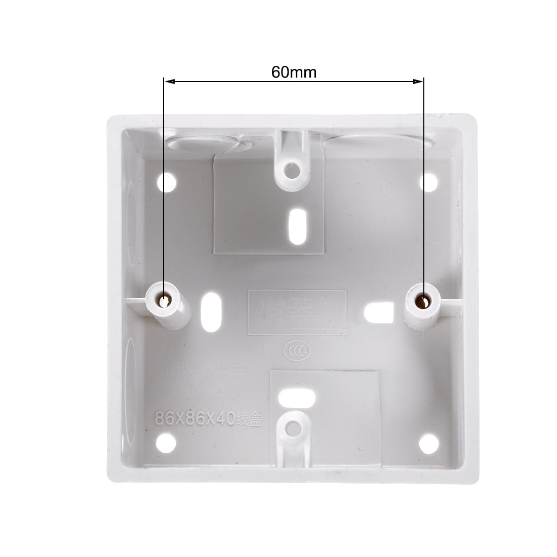hight resolution of shop surface mount wiring box electric wire outlet 86 type pvc white 86 type 40mm depth 1pcs free shipping on orders over 45 overstock 27581409