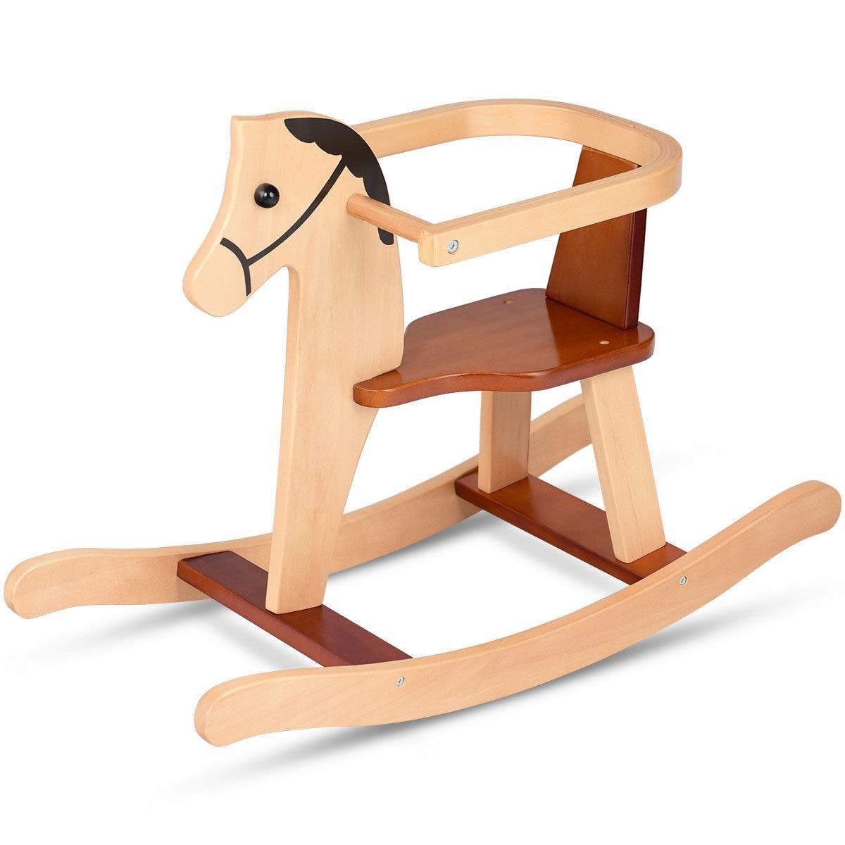 animal rocking chair sliding shower chairs for elderly shop gymax baby kids toy wooden horse rider bar security boys girls as pic free shipping today overstock com 22802713