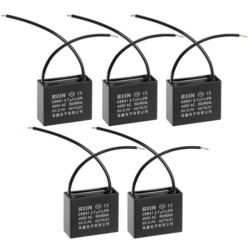 small resolution of shop run capacitor 450v ac 2 7 uf metallized polypropylene film capacitors 5pcs 2 7 uf 5pcs on sale free shipping on orders over 45 overstock