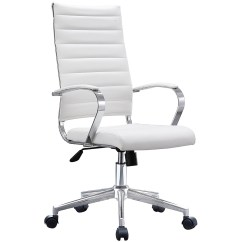 Modern White Desk Chair Ada Pool Lift Requirements Shop 2xhome High Back Office Ribbed Pu Leather Manager Tilt Conference Room Computer Boss Task Executive