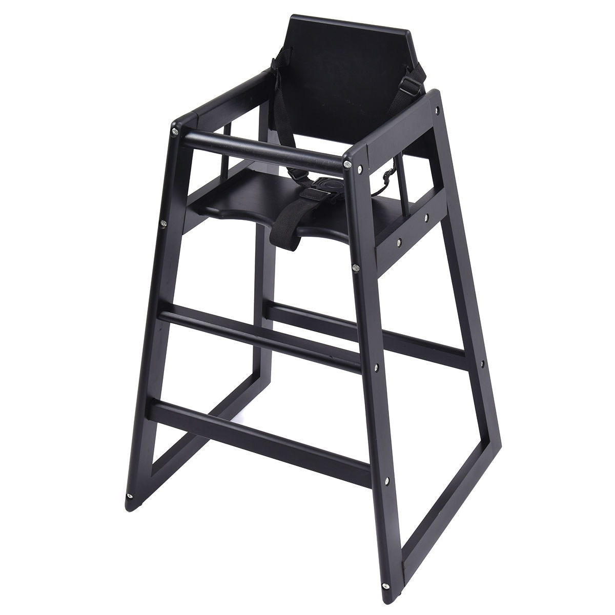 high chair restaurant covers hire kent shop costway baby wooden stool infant feeding children toddler natural bk black