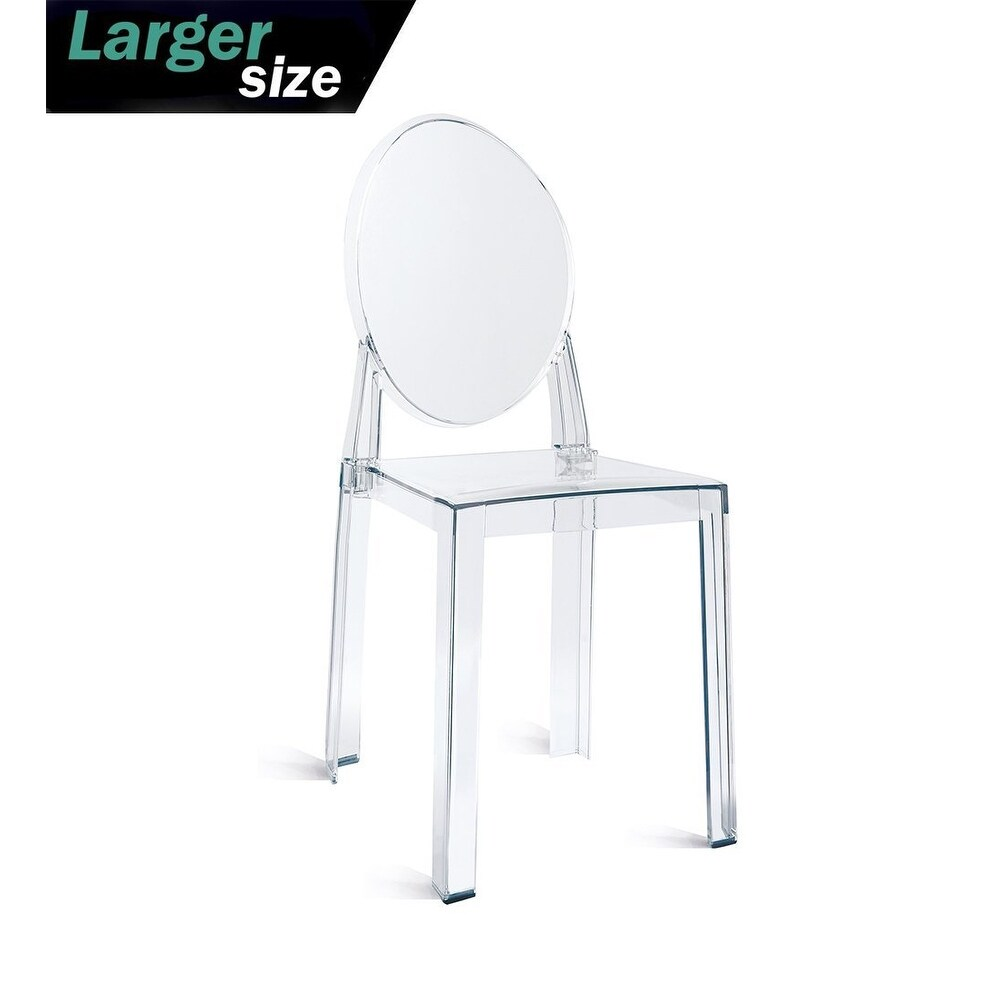 Plastic Clear Chair 2xhome Larger Clear Plastic Armless Side Chairs Crystal Designer For Wedding Kitchen Desk Home Office Outdoor Uv Indoor