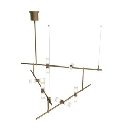 shop tech lighting 700mdchcs modernrail 48 w integrated led linear chandelier with surface transformer canopy opal glass orb shades free shipping today  [ 1000 x 1000 Pixel ]