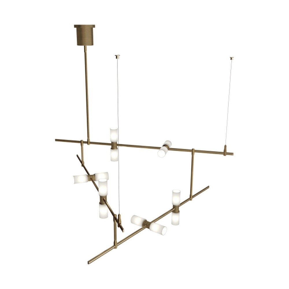 hight resolution of shop tech lighting 700mdchcs modernrail 48 w integrated led linear chandelier with surface transformer canopy opal glass orb shades free shipping today
