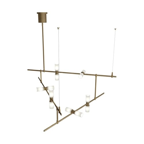 small resolution of shop tech lighting 700mdchcs modernrail 48 w integrated led linear chandelier with surface transformer canopy opal glass orb shades free shipping today