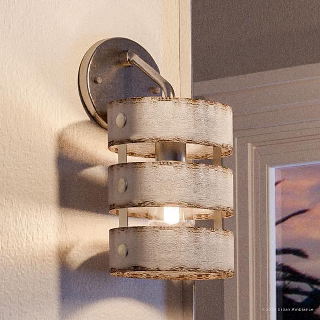 luxury modern farmhouse bathroom vanity light 12 h x 6 w with rustic style galvanized steel finish by urban ambiance 6