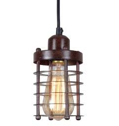 shop rustic wire cage vintage industrial pendant light fixture hall ceiling light fixture updated wiring vintage lighting on on hall [ 2408 x 2408 Pixel ]