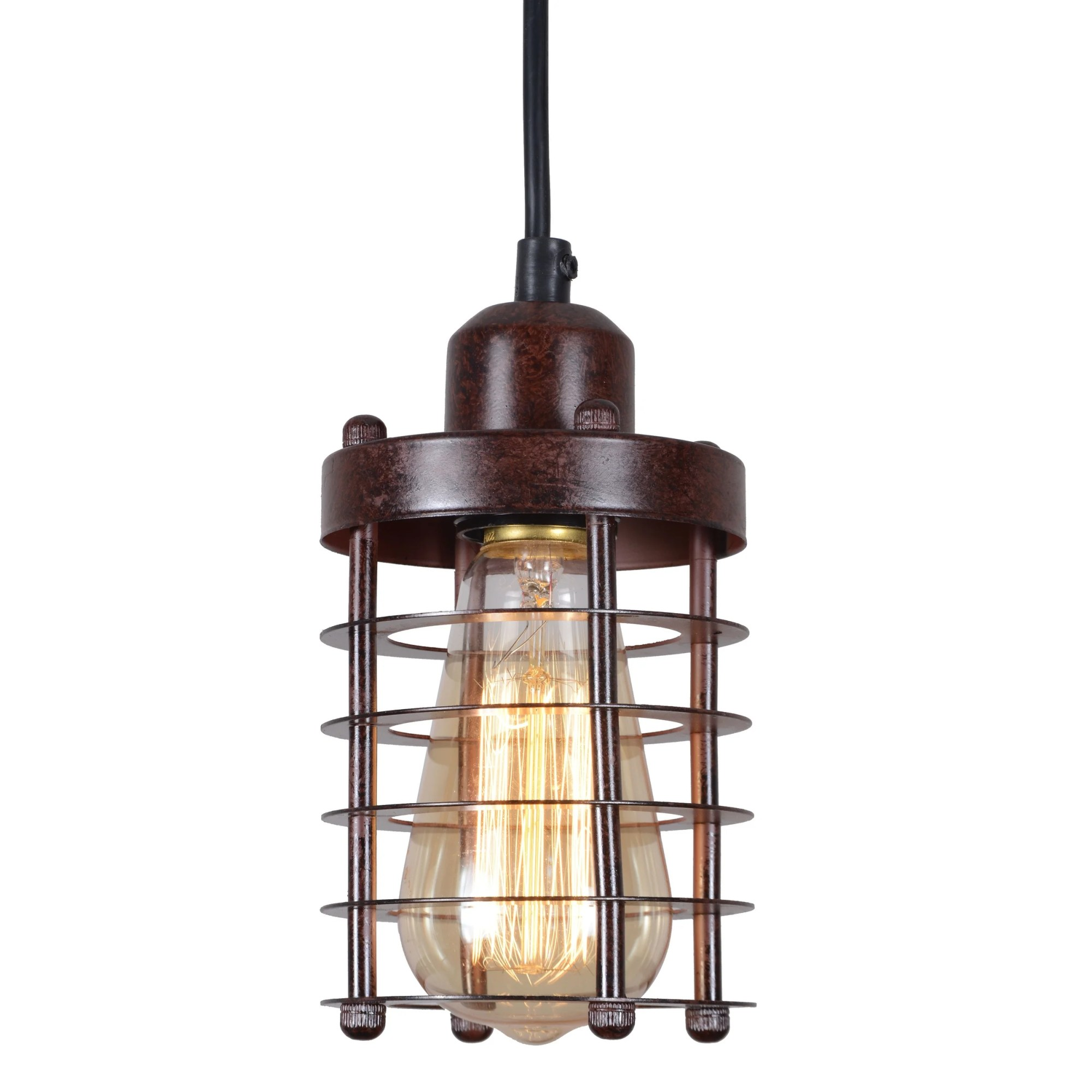 hight resolution of shop rustic wire cage vintage industrial pendant light fixture hall ceiling light fixture updated wiring vintage lighting on on hall