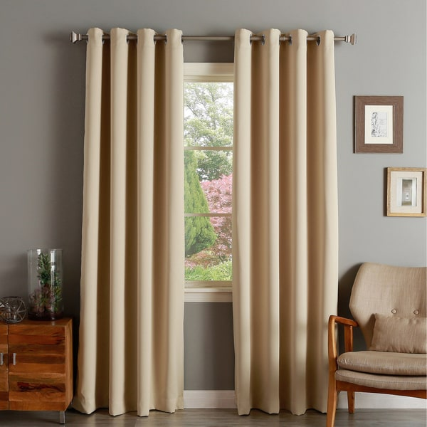 Aurora Home Silver Grommet Top Thermal Insulated 96 Inch Blackout Curtain Panel 52 X 95 Free