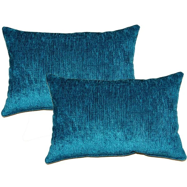 Eaton Teal Decorative Throw Pillow Set of 2  Free