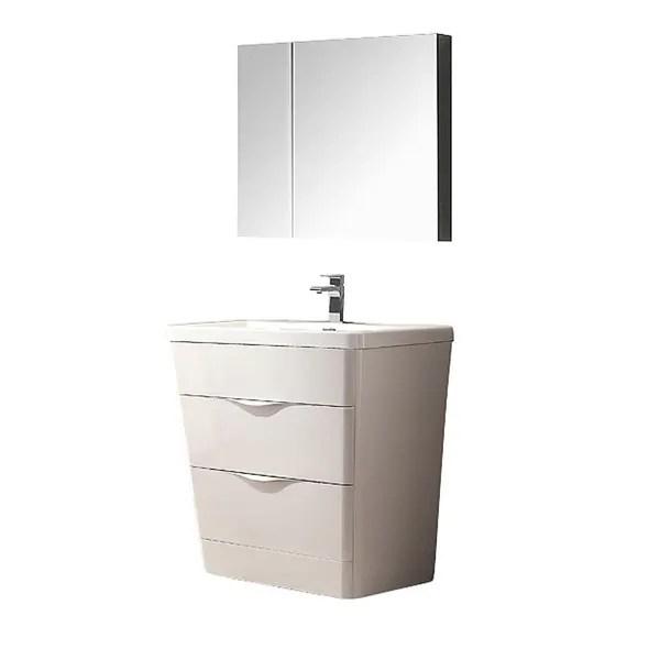 Shop Fresca Milano 32inch Glossy White Modern Bathroom