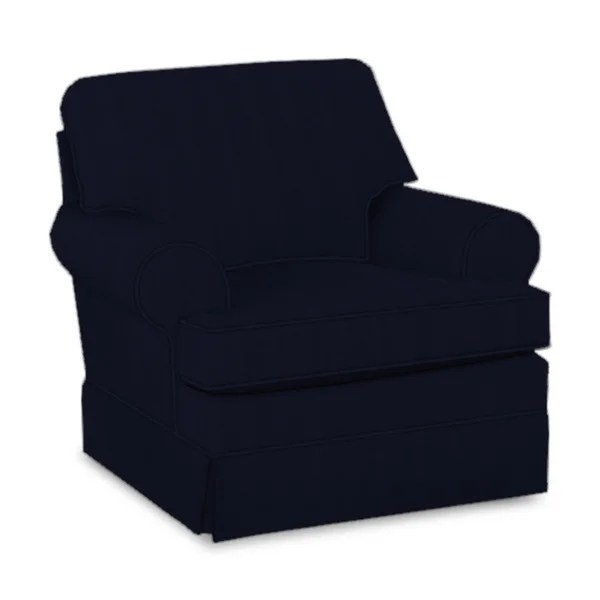 blue glider chair time out with timer shop made to order carlson navy fabric swivel