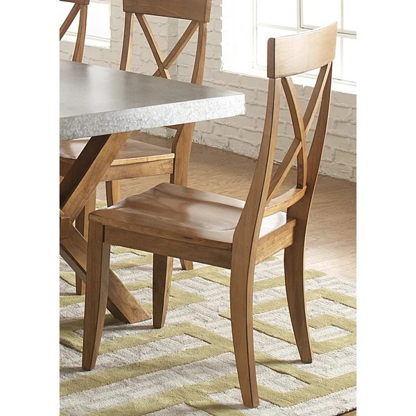 liberty dining chairs loose fit slipcovers for shop keaton maple rubberwood x back chair free shipping today overstock com 10026749