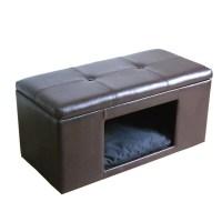 HomePop Comfy Hidden Pet Bed Ottoman Bench - Free Shipping ...