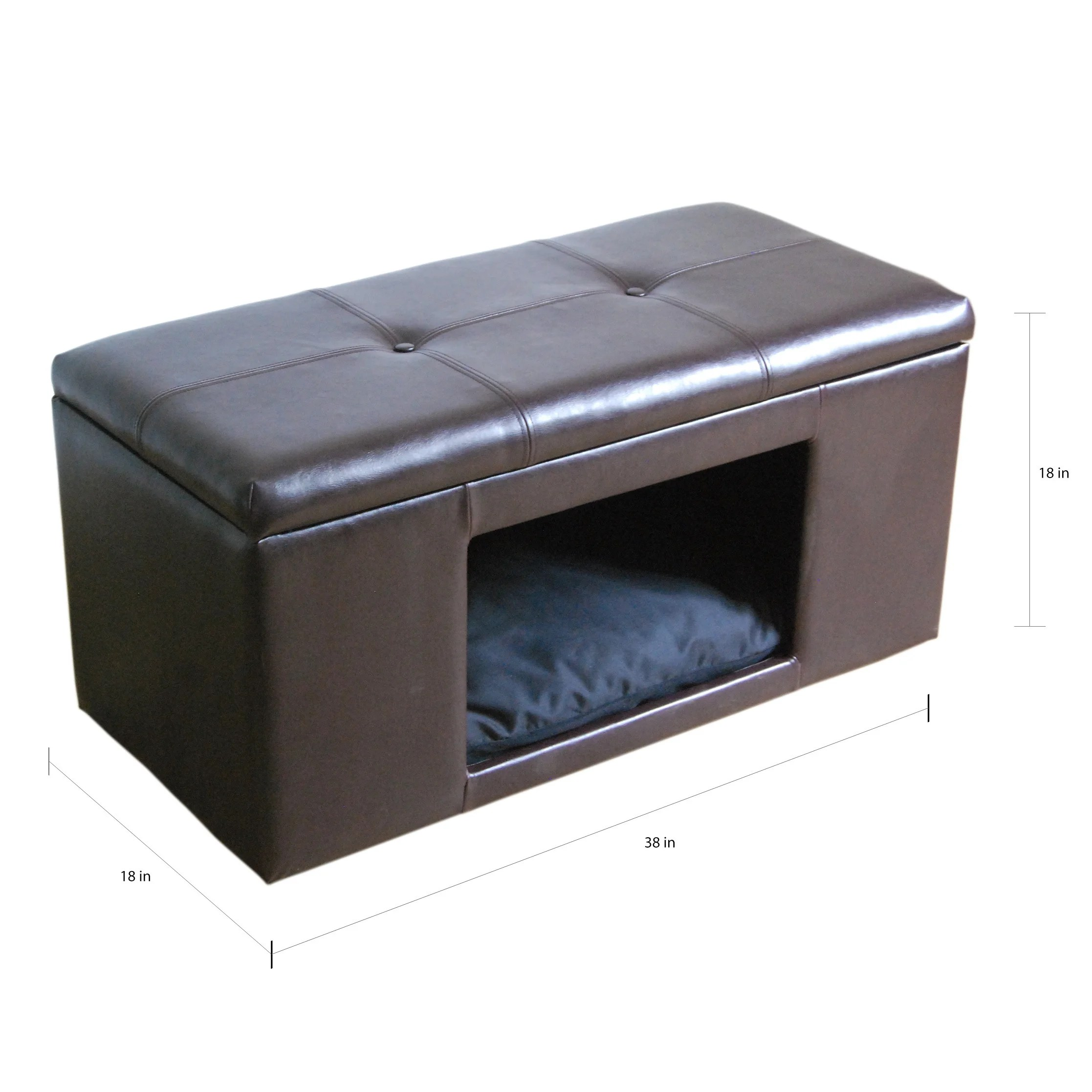 Homepop Pet Bed Bench On Sale Overstock 10035296