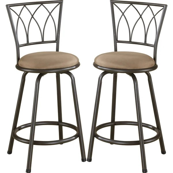 upholstered counter height chairs diy fabric high chair shop austin metal stool with seat set of 2 free shipping today overstock com 10039983