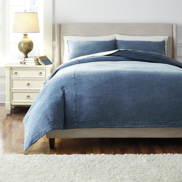 Signature Design by Ashley Denim 3piece Duvet Cover Set