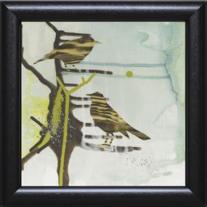 Gina Miller 'Chit Chat Chirp' 22 x 22 Framed Art Print - Multi