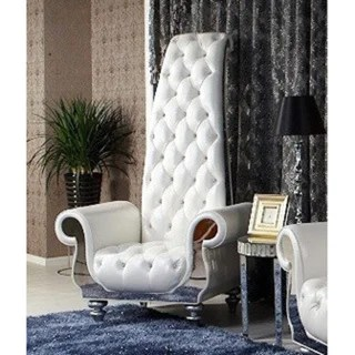 overstock com dining room chairs chair rail lowes divani casa luxe neo-classical white italian leather tall - free shipping today ...