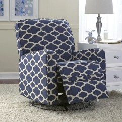 Blue Nursery Chair Folding Gif Guy Shop Leo Swivel Glider Recliner Free Shipping Today Overstock Com 10054024