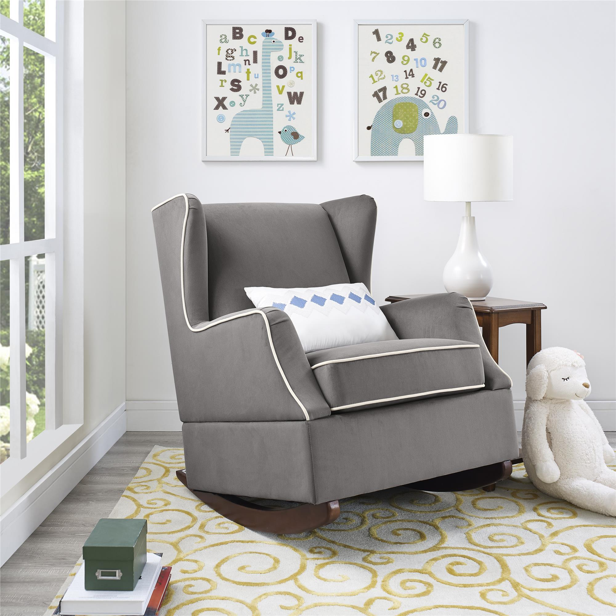 toddler wingback chair lay flat beach uk shop baby relax hudson graphite grey rocker