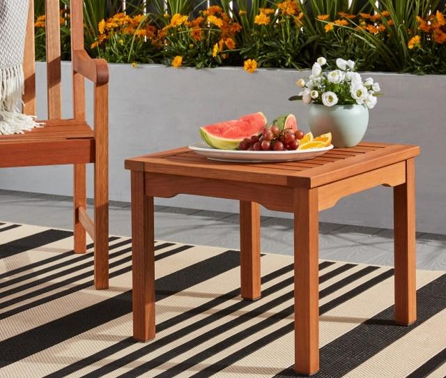 Amazonia Pacific Eucalyptus Square Side Table