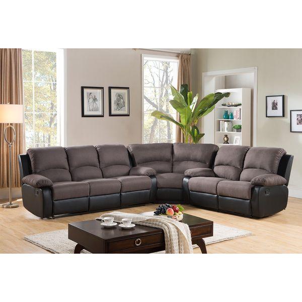 malibu two tone fabric reclining