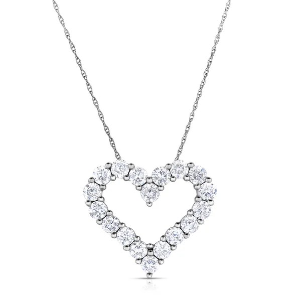 Shop Eloquence 14k White Gold, 1/2ct TDW Diamond Heart