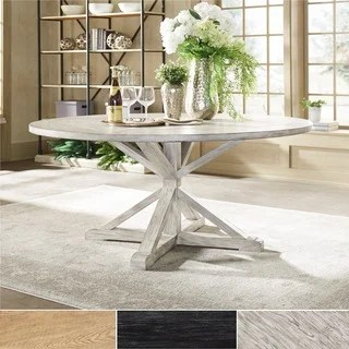 white round kitchen table equipment rental buy dining room tables online at overstock com our benchwright rustic x base pine wood by inspire q artisan