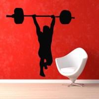 Bodybuilder Crossfit GYM Decor Sticker Vinyl Wall Art ...