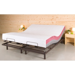 T Motion 10 Inch Split King Size Adjule Bed Set With Two Techno