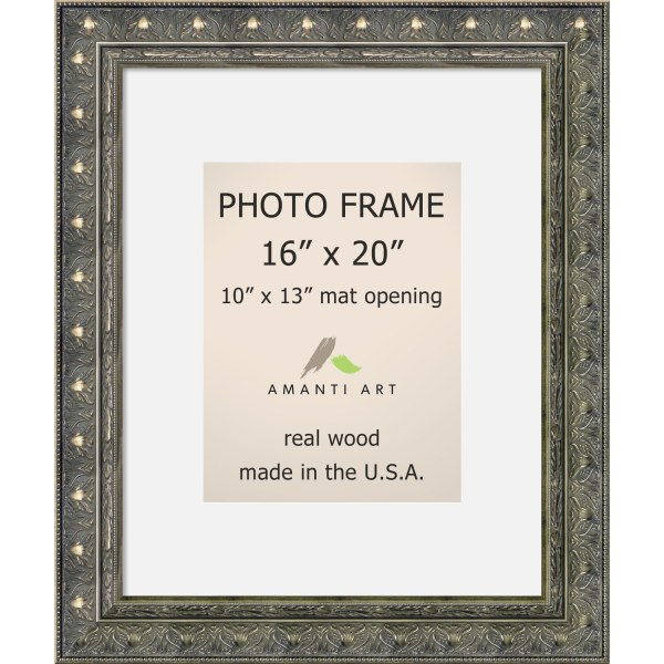 Barcelona Pewter Frame 16x20 Matted 10x13' 20 X