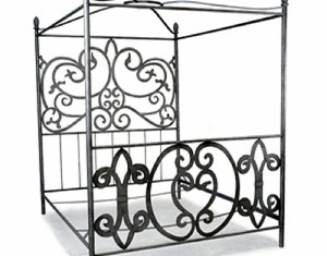 Full Bed Frames Sylvania Canopy Bed In French Roast