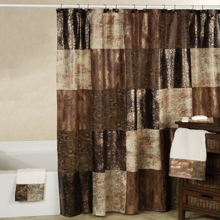 Black And Brown Shower Curtain Splash Home Royal Court Brown