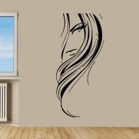 Shop Beauty Salon Decor Woman face Sticker Vinyl Wall Art ...