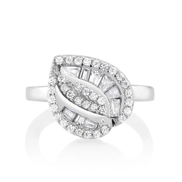 Shop 925 Sterling Silver Cubic Zirconia Double Row Tree